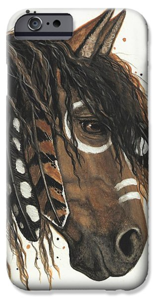 Majestic iPhone Cases - Hopa Majestic Mustang Series 47 iPhone Case by AmyLyn Bihrle