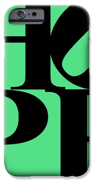 Hope 20130710 Black Green iPhone Case by Wingsdomain Art and Photography