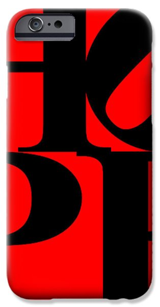 Hope 20130710 Black Red iPhone Case by Wingsdomain Art and Photography
