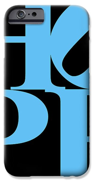 Hope 20130710 Blue Black iPhone Case by Wingsdomain Art and Photography