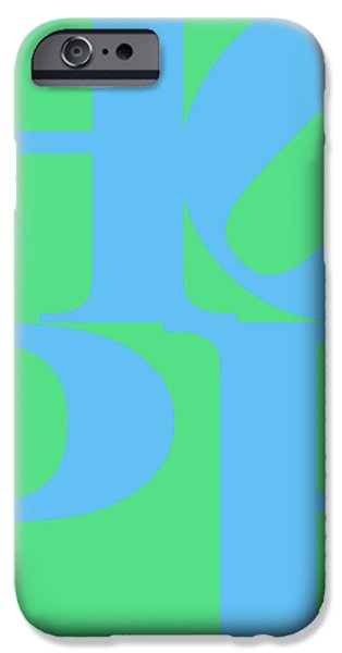 Hope 20130710 Blue Green iPhone Case by Wingsdomain Art and Photography
