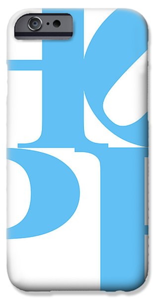 Hope 20130710 Blue White iPhone Case by Wingsdomain Art and Photography