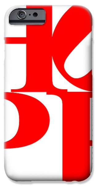 Hope 20130710 Red White iPhone Case by Wingsdomain Art and Photography