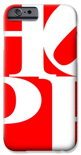 Hope 20130710 White Red iPhone Case by Wingsdomain Art and Photography