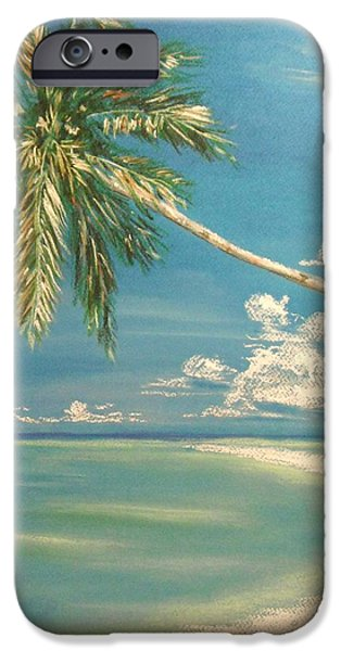Beach Landscape Pastels iPhone Cases - Hope Bay iPhone Case by The Beach  Dreamer