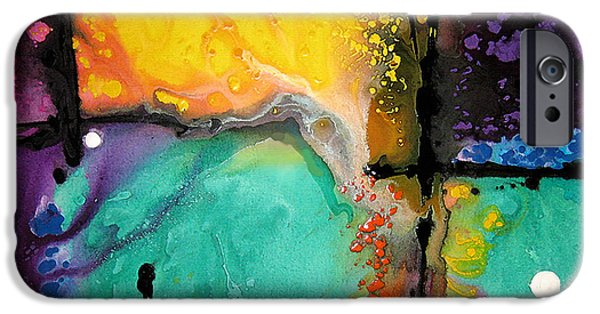 Decorating Mixed Media iPhone Cases - Hope - Colorful Abstract Art By Sharon Cummings iPhone Case by Sharon Cummings