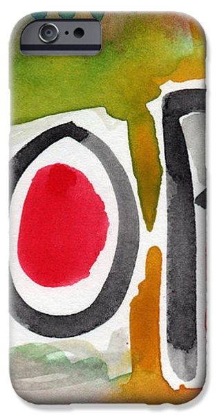 Hope- colorful abstract painting iPhone Case by Linda Woods