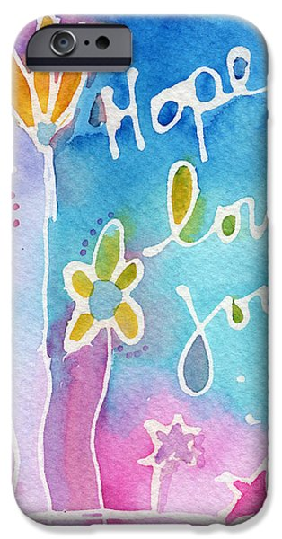 Hope iPhone Cases - Hope Love Joy iPhone Case by Linda Woods