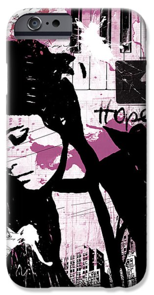 Buildings Mixed Media iPhone Cases - Hope Pink iPhone Case by Melissa Smith