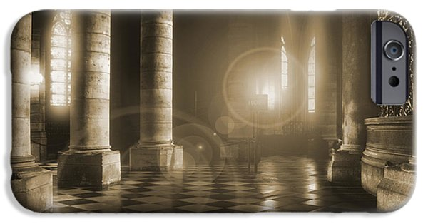 Notre Dame Cathedral iPhone Cases - Hope Shinning Through iPhone Case by Mike McGlothlen