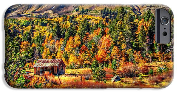 Rustic Barns iPhone Cases - Hope Valley Fall Color iPhone Case by Scott McGuire