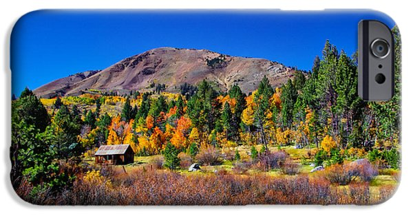 Americana Photographs iPhone Cases - Hope Valley Rustic Barn Fall Color iPhone Case by Scott McGuire