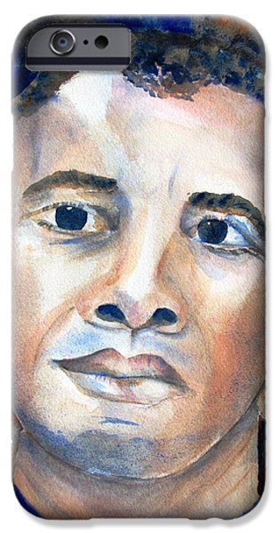 Barack Obama iPhone Cases - Hopeful - President-Elect iPhone Case by Carlin Blahnik