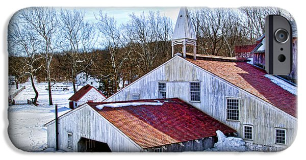 Restored Plantation iPhone Cases - Hopewell Furnace iPhone Case by Carolyn Derstine