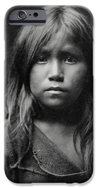 Hopi iPhone Cases - Hopi Indian Girl 1905 iPhone Case by Daniel Hagerman