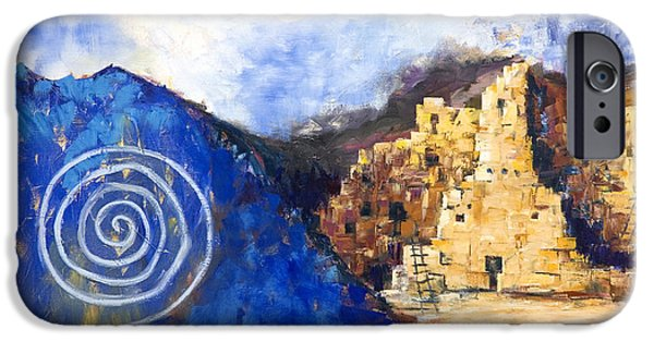 Hopi iPhone Cases - Hopi Spirit iPhone Case by Jerry McElroy
