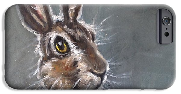 March Hare iPhone Cases - Horatio Hare iPhone Case by Louise  Brown