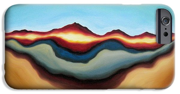 Abstract Expressionist iPhone Cases - Horizon of Ages iPhone Case by Tiffany Davis-Rustam