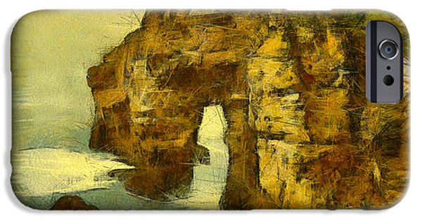 Abstract Seascape iPhone Cases - Horn Head Temple Arch iPhone Case by Unknown