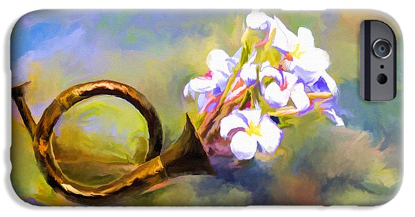 Business Digital iPhone Cases - Horn of Frangipani iPhone Case by Ted Guhl