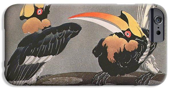 Hornbill iPhone Cases - Hornbills iPhone Case by Ethleen Palmer