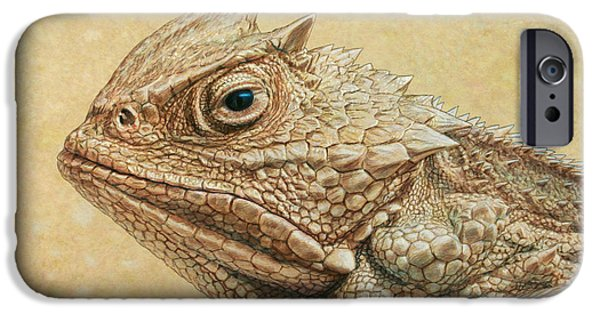 Wildlife iPhone Cases - Horned Toad iPhone Case by James W Johnson