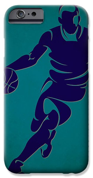 Hornet iPhone Cases - Hornets Basketball Player3 iPhone Case by Joe Hamilton