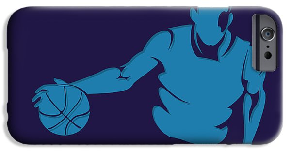 Charlotte iPhone Cases - Hornets Shadow Player1 iPhone Case by Joe Hamilton