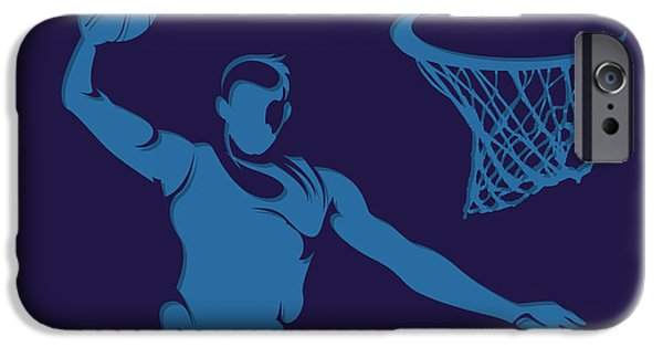 Hornet iPhone Cases - Hornets Shadow Player2 iPhone Case by Joe Hamilton
