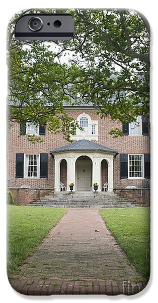 Yorktown Virginia iPhone Cases - Hornsby House Inn Yorktown iPhone Case by Teresa Mucha