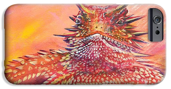 Summer Celeste iPhone Cases - Horny Toad iPhone Case by Summer Celeste