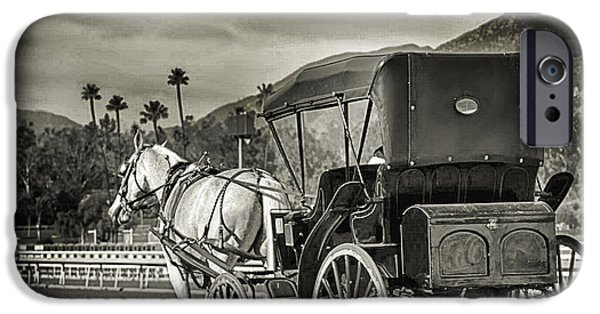 Horse And Buggy iPhone Cases - Horse and Buggy iPhone Case by Camille Lopez