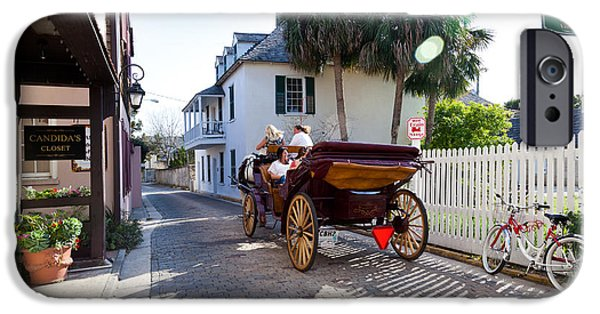 Horse And Buggy Photographs iPhone Cases - Horse and Buggy Ride St Augustine iPhone Case by Michelle Wiarda