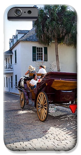 Horse and Buggy Ride St Augustine iPhone Case by Michelle Wiarda