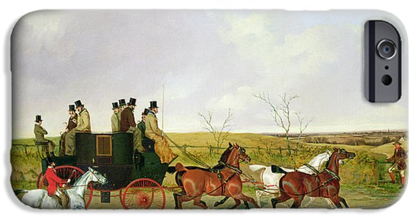 Equestrian iPhone Cases - Horse and Carriage iPhone Case by David of York Dalby