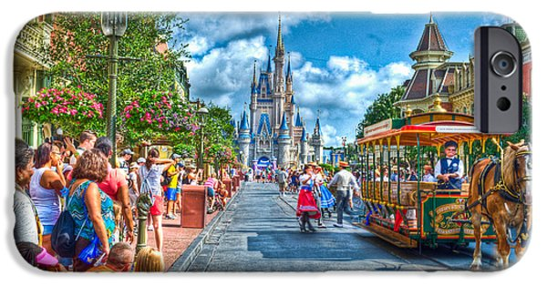 Magic Kingdom iPhone Cases - Horse and Carriage iPhone Case by Ryan Crane