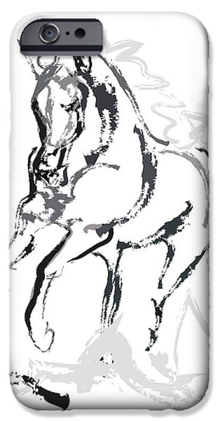 Horse- Andalusian angel iPhone Case by Go Van Kampen