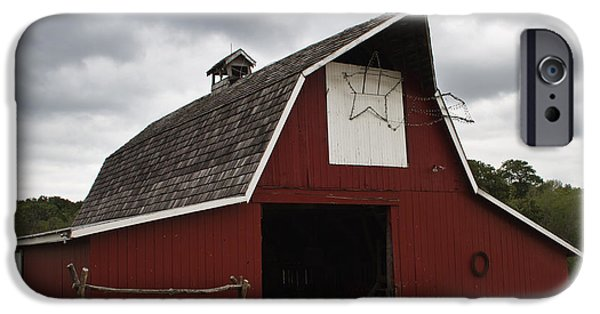 Painter Print Photographs iPhone Cases - Horse Barn iPhone Case by Guy Shultz