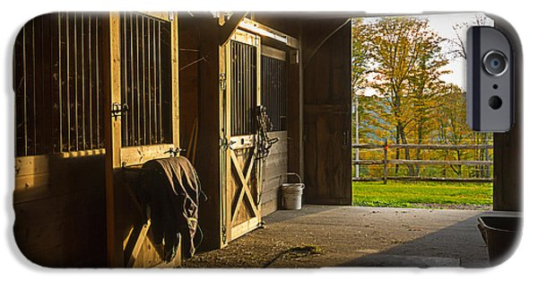 Stable iPhone Cases - Horse Barn Sunset iPhone Case by Edward Fielding