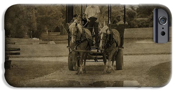 Horse And Buggy Photographs iPhone Cases - Horse Carriage Tour iPhone Case by Dan Sproul