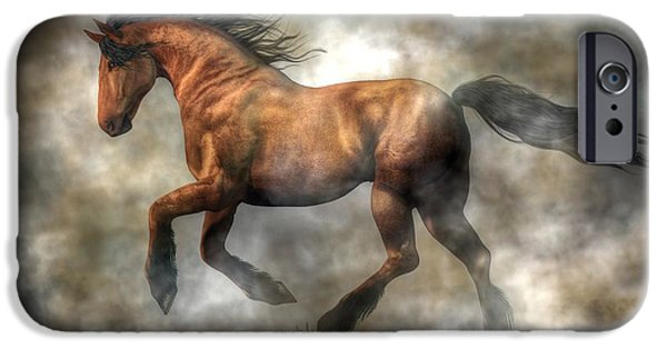 Year Of The Horse iPhone Cases - Horse iPhone Case by Daniel Eskridge