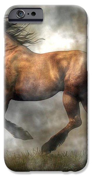 Horse iPhone Case by Daniel Eskridge