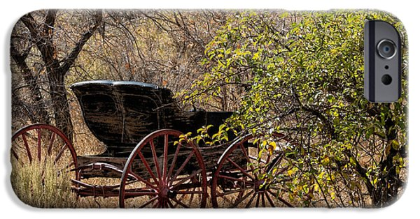 Horse And Buggy Digital iPhone Cases - Horse-drawn Buggy iPhone Case by Kathleen Bishop
