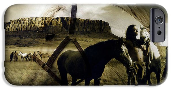 Horse iPhone Cases - Horse Dreams iPhone Case by Marvin Blaine