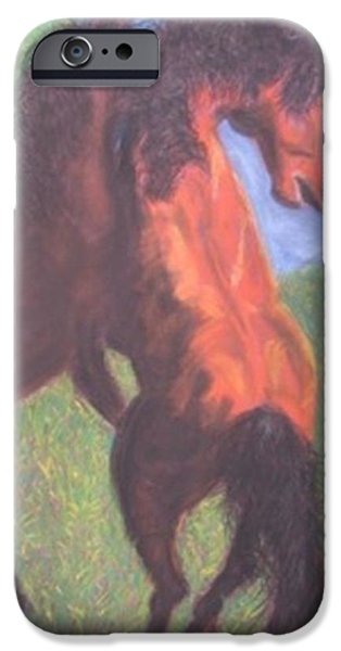 Buy Pastels iPhone Cases - Horse game iPhone Case by Igor Kotnik