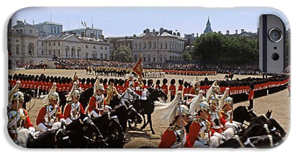 Horse iPhone Cases - Horse Guards Parade, London, England iPhone Case by Panoramic Images