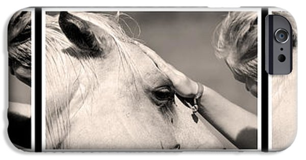 Young iPhone Cases - Horse healer iPhone Case by Toppart Sweden