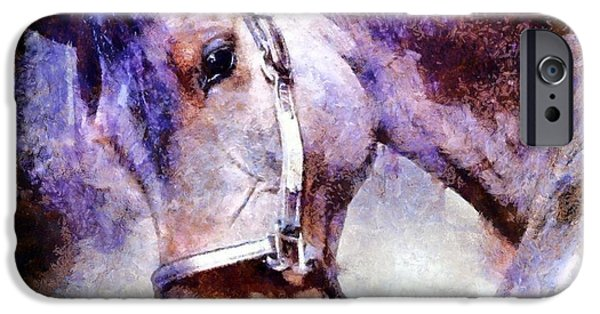 The Horse iPhone Cases - Horse I will follow you iPhone Case by Janine Riley