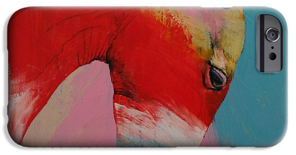 Michael Paintings iPhone Cases - Horse iPhone Case by Michael Creese