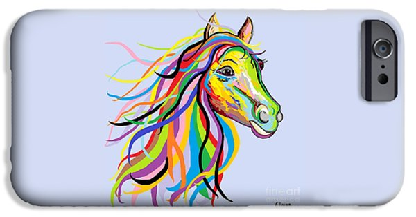 Contemporary Abstract iPhone Cases - Horse of a Different Color iPhone Case by Eloise Schneider